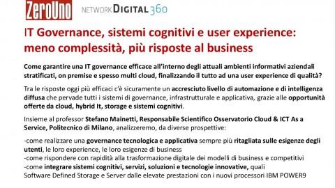 23/5/18 Executive cocktail – IT Governance, sistemi cognitivi e user experience