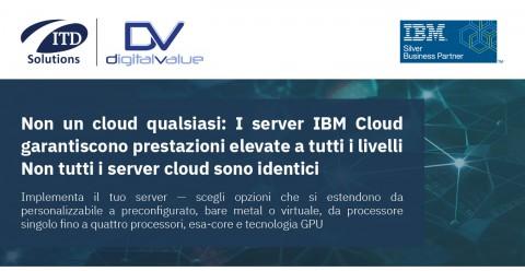 Non un cloud qualsiasi: I server IBM Cloud garantiscono prestazioni elevate a tutti i livelli Non tutti i server cloud sono identici